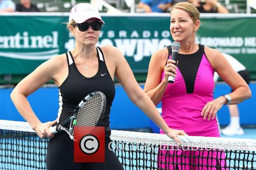 Chelsea Handler and Chris Evert 11