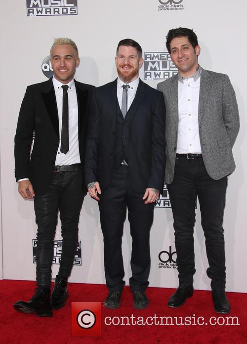 Pete Wentz, Andy Hurley and Joe Trohman 2