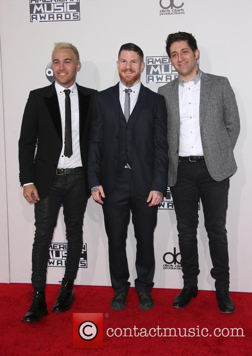 Pete Wentz, Andy Hurley and Joe Trohman 3