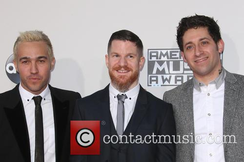 Pete Wentz, Andy Hurley and Joe Trohman 5