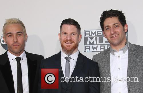 Pete Wentz, Andy Hurley and Joe Trohman 6