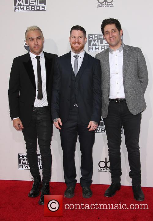 Pete Wentz, Andy Hurley and Joe Trohman 7