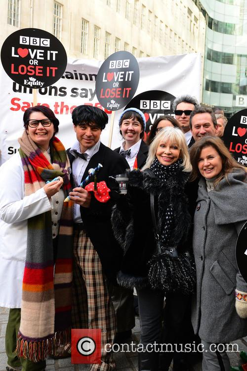 Former Dr Who assistant and fans protest at...