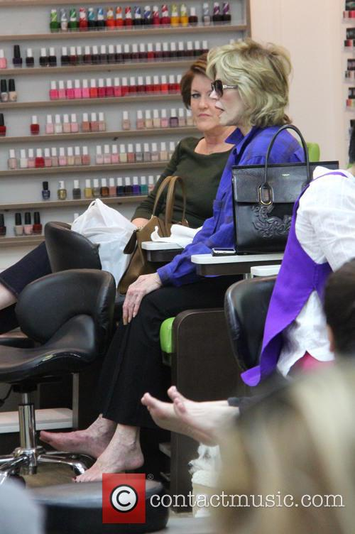 Jane Fonda at a nail salon in Beverly...