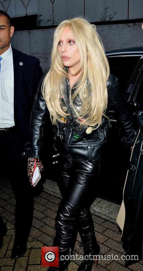 Lady Gaga arrives at a studio in North...