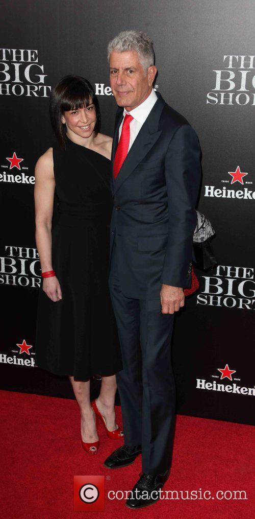 Ottavia Busia and Anthony Bourdain 1