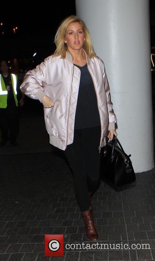 Ellie Goulding departs on a flight from Los...