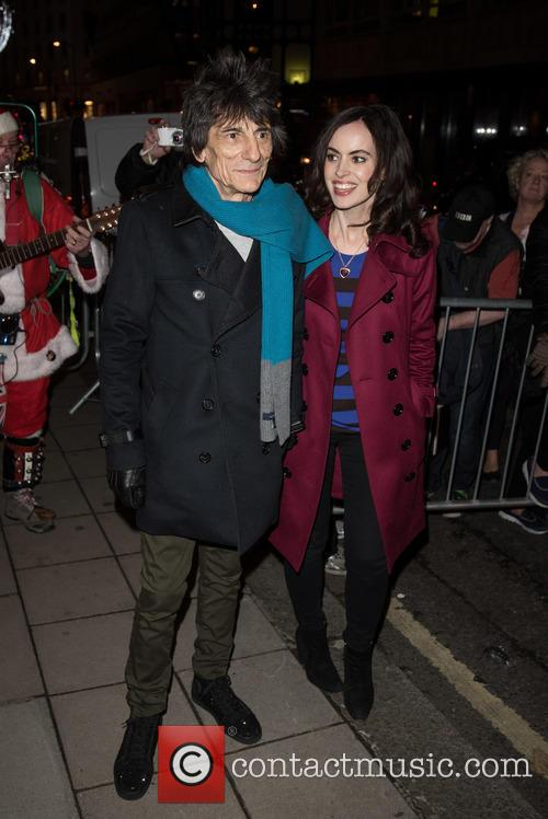 Ronnie Wood and Sally Humphries 1