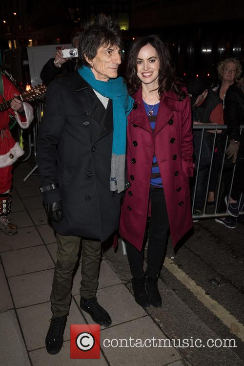 Ronnie Wood and Sally Humphries 2