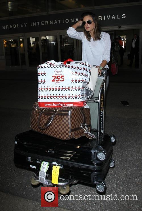Alessandra Ambrosio arrive on a flight to Los...