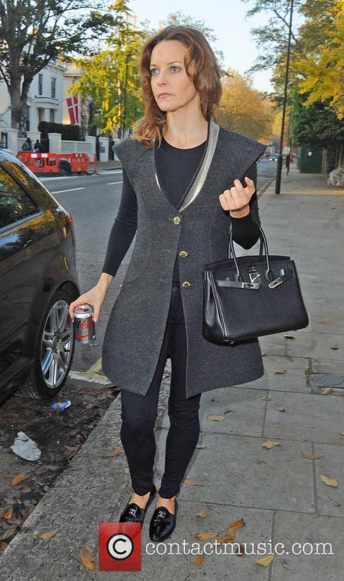 TV presenter Kim Frickleton taking a stroll in...