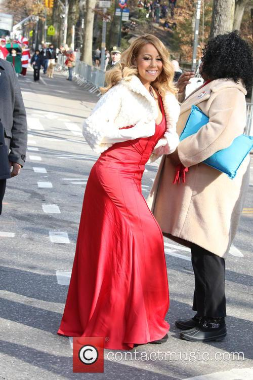 Mariah Carey performs live at the Macy's Thanksgiving...