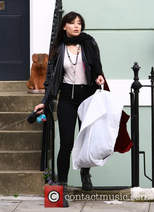 Daisy Lowe leaving Nick Grimshaw's house