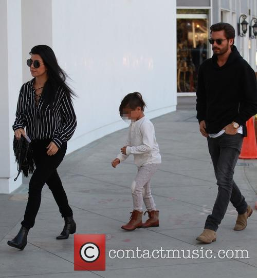 Kourtney Kardashian, Scott Disick and Mason Dash Disick 1