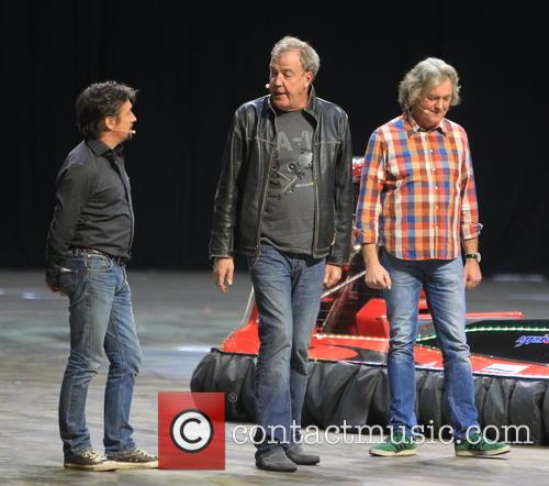 Jeremy Clarkson, Richard Hammond And James May Appear On James Corden's Show