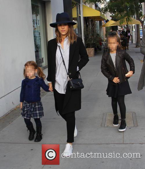 Jessica Alba, Honor Marie Warren and Haven Garner Warren 6