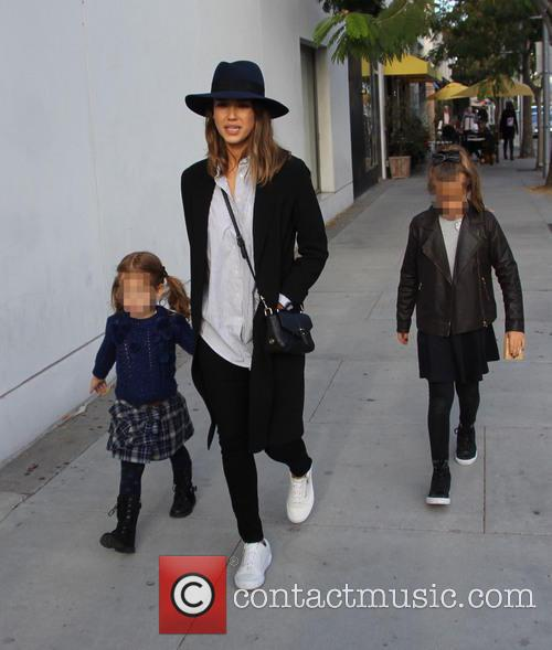 Jessica Alba, Honor Marie Warren and Haven Garner Warren 7