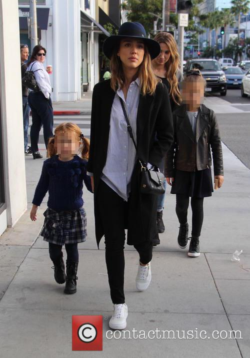Jessica Alba, Honor Marie Warren and Haven Garner Warren 9