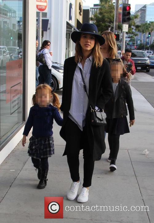 Jessica Alba, Honor Marie Warren and Haven Garner Warren 10