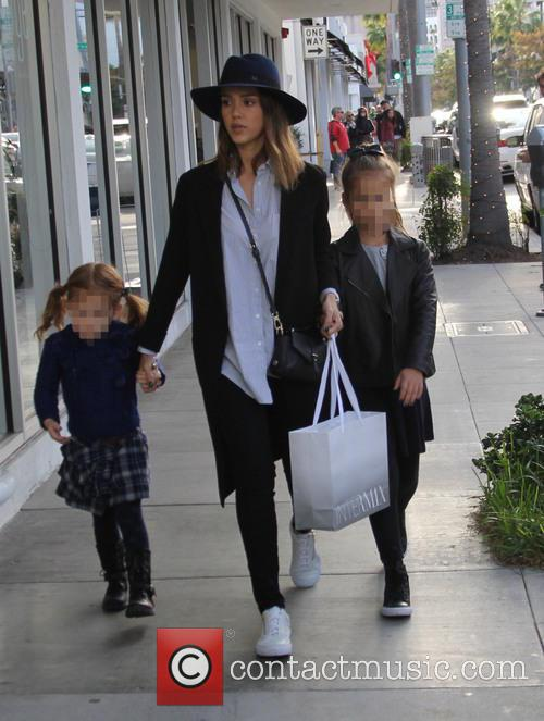 Jessica Alba, Honor Marie Warren and Haven Garner Warren 11