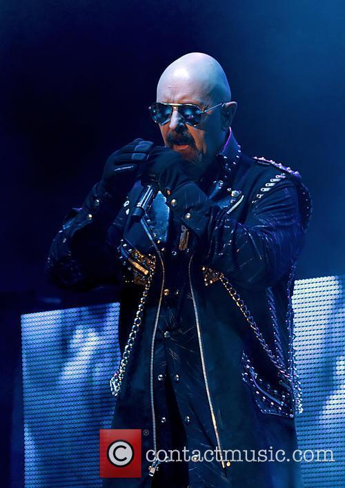 Judas Priest performing live in 2015