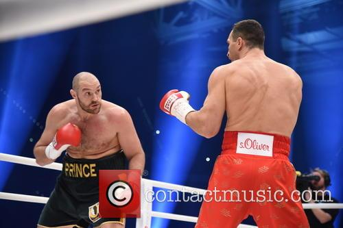 Tuyson Fury and Wladimir Klitschko 2