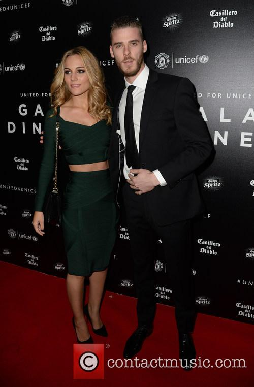 David De Gea and Edurne García 1