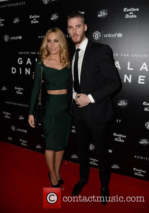 David De Gea and Edurne García 2