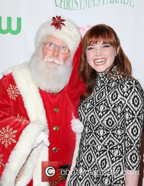 Kennedy Lea Slocum and Santa 2