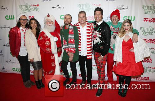 Alex Kinsey, Sierra Deaton, Tyler Glenn, Mark Mcgrath, Sam Hollander and Santa