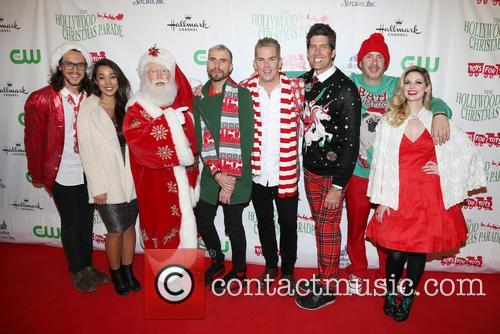 Alex Kinsey, Sierra Deaton, Tyler Glenn, Mark Mcgrath, Sam Hollander and Santa 2