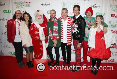 Alex Kinsey, Sierra Deaton, Tyler Glenn, Mark Mcgrath, Sam Hollander and Santa 3