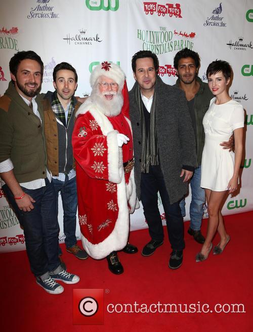 Josh Zuckerman, Jonathan Silverman, Jay Ali, Emma Fitzpatrick and Santa