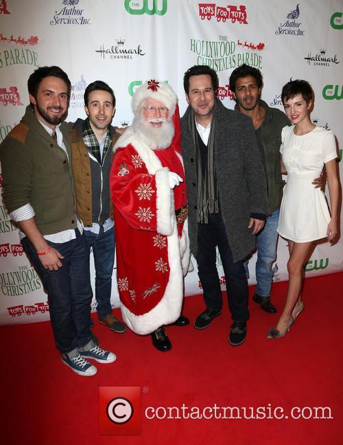 Josh Zuckerman, Jonathan Silverman, Jay Ali, Emma Fitzpatrick and Santa 2