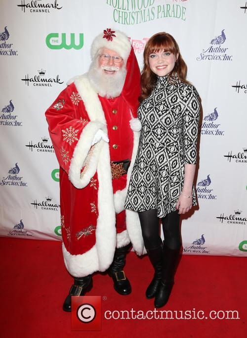 Kennedy Lea Slocum and Santa 7