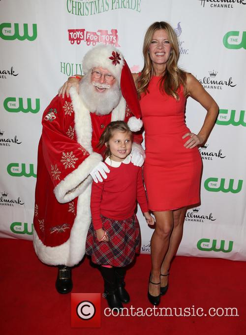 Santa, Michelle Stafford and Natalia Scout Lee Stafford 9