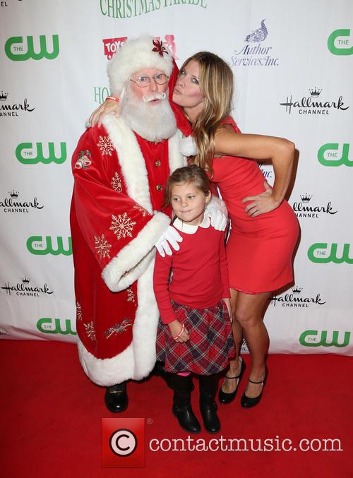 Santa, Michelle Stafford and Natalia Scout Lee Stafford 10