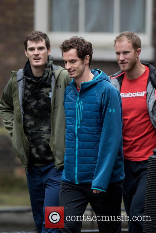 Andy Murray, Dominic Inglot and Jamie Murray 6
