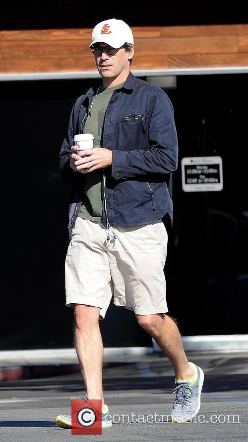 Jon Hamm at Coffee Bean