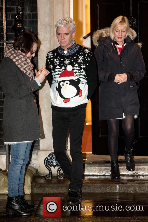 Philip Schofield films for Good Morning Britain at...
