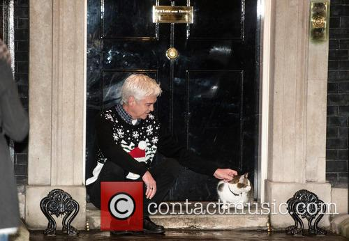 Philip Schofield and Larry The Cat 5