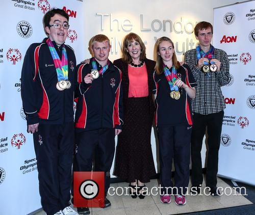 Phyllis Logan, Daniel Woolf, Matt Dodds, Mitchell Camp and Georgina Maton 2