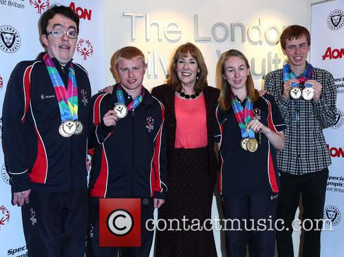 Phyllis Logan, Daniel Woolf, Matt Dodds, Mitchell Camp and Georgina Maton 3