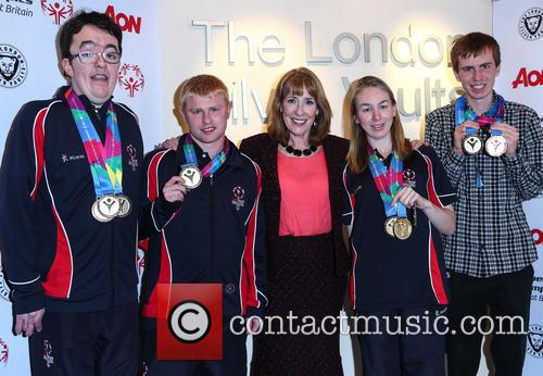 Phyllis Logan, Daniel Woolf, Matt Dodds, Mitchell Camp and Georgina Maton 4