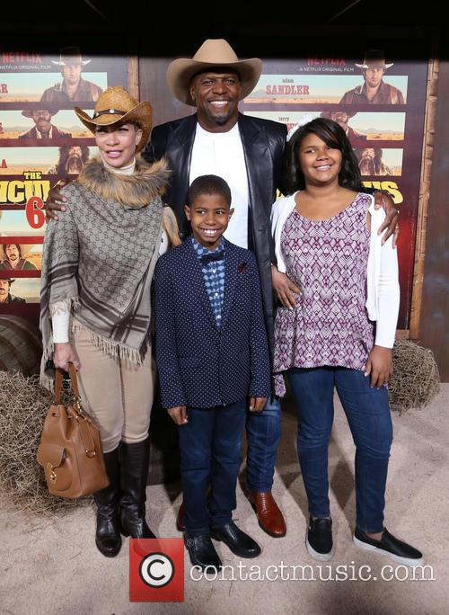 Terry Crews, Rebecca Crews and Kids 4