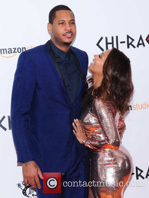 Carmelo Anthony and Lala Anthony 2