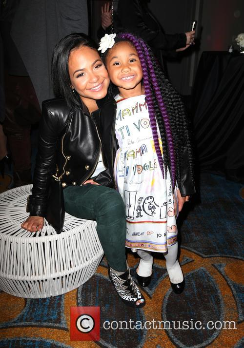 Christina Milian and Violet Madison Nash 1