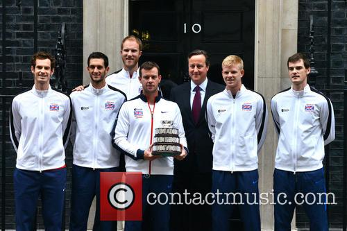 Davis Cup Trophy Team and David Cameron 1