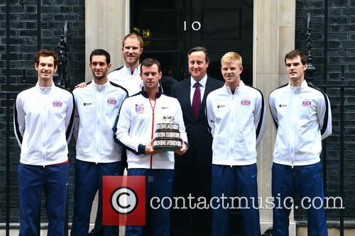 Davis Cup Trophy Team and David Cameron 3