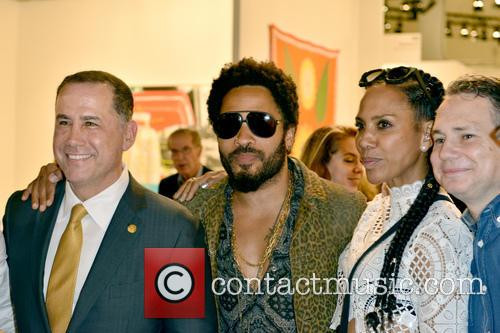 City Of Miami Beach Mayor Philip Levine, Lenny Kravitz, Barbara Becker and Jason Binn